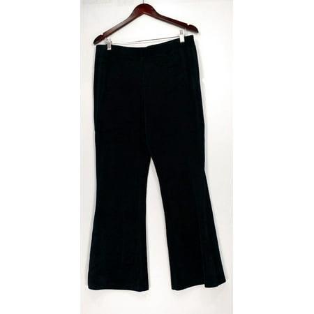 Anybody Women's Pants Sz M Loungewear Velour Flare Black A297303