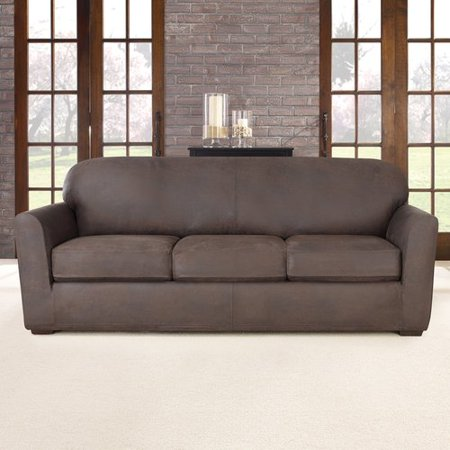 sure fit ultimate stretch box cushion sofa slipcover. Black Bedroom Furniture Sets. Home Design Ideas