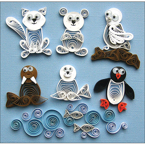 Quilled Creations Quilling Kit, Arctic Buddies