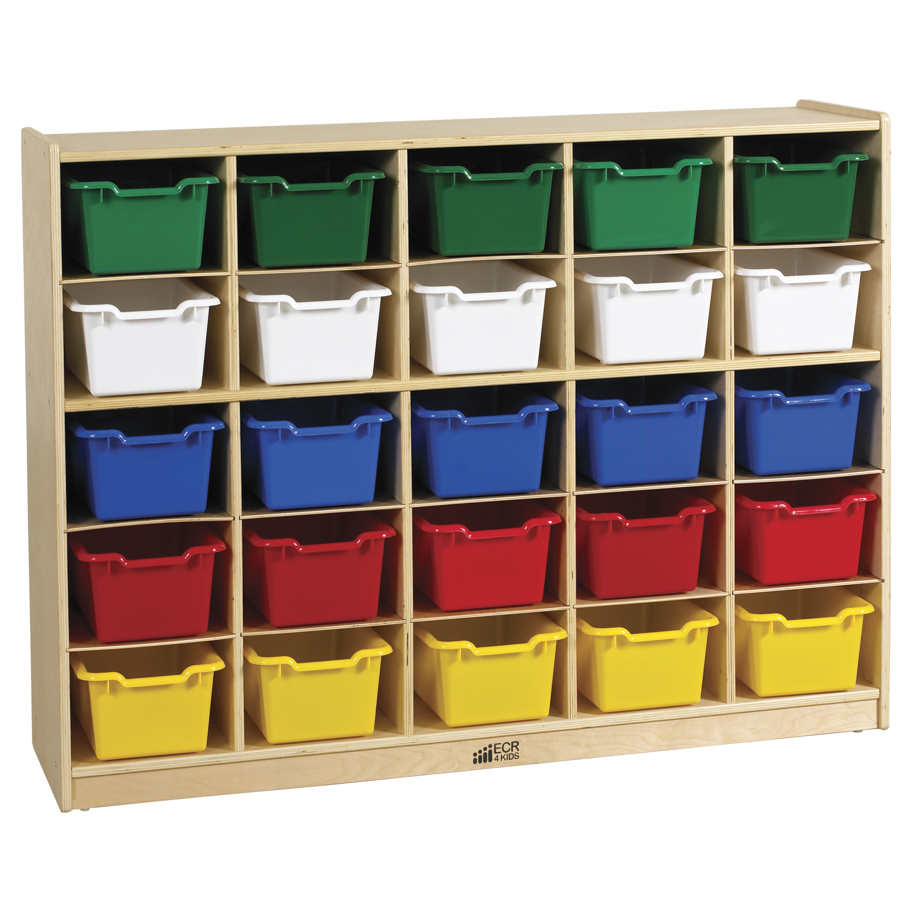 36 in. High 25 Tray Classroom Storage Cabinet w 25 Bins