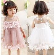 Flower Kids Baby Girl Princess Bridesmaid Dresses Petal Tulle Party Formal Wedding Dress