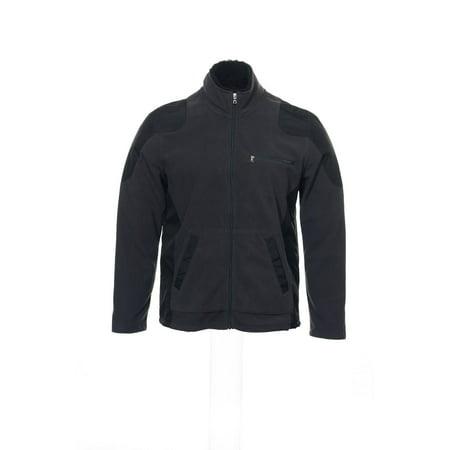 - INC International Concepts Gray Color Block Fleece Jacket , Size 2XLarge