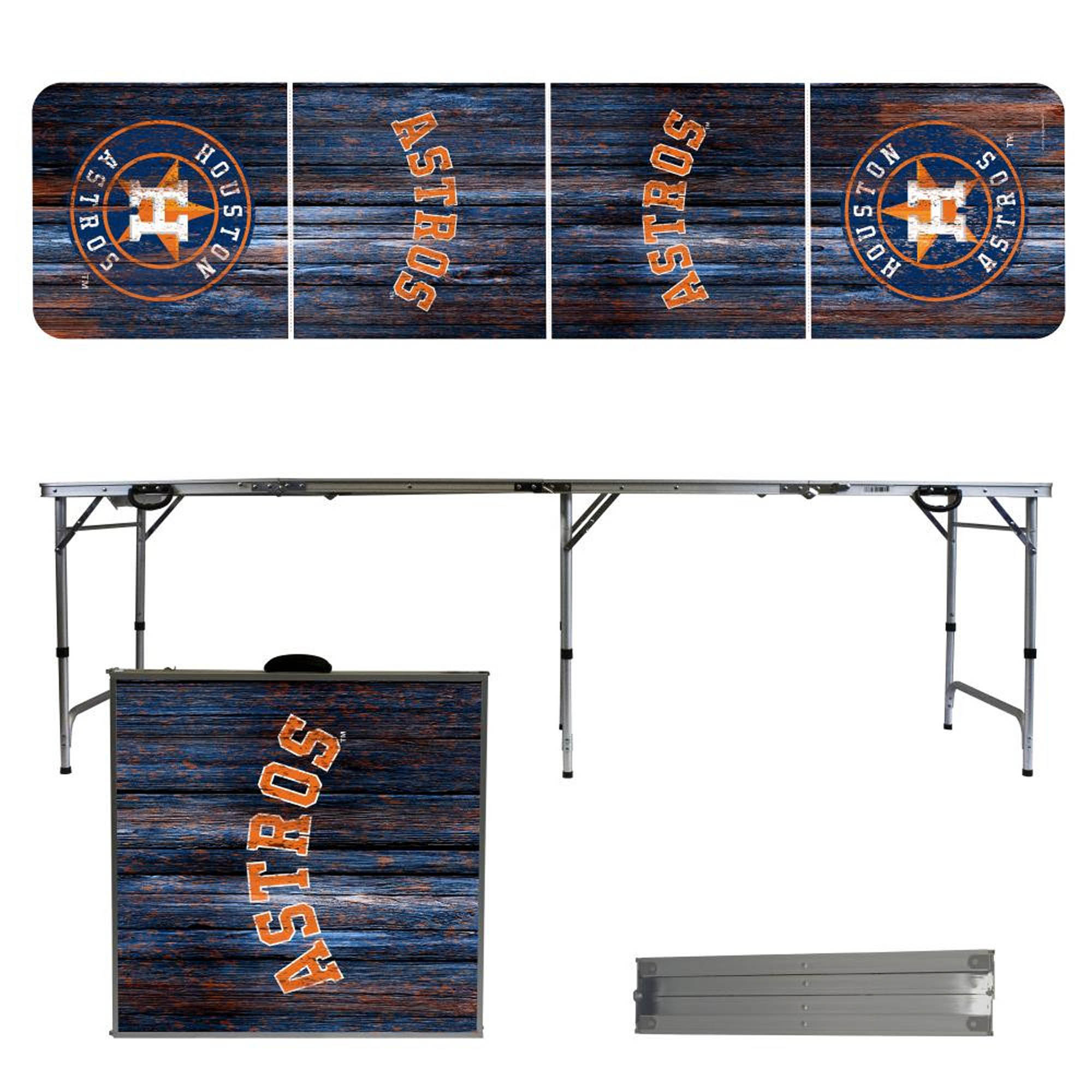 Houston Astros Weathered Design 8' Portable Folding Tailgate Table - No Size