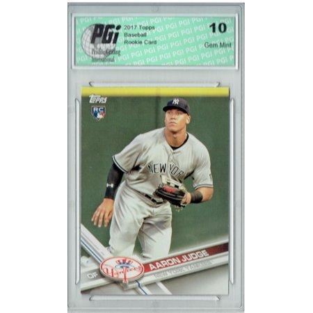 16 Rookie Card (Aaron Judge 2017 Topps #NYY-16 Yankees Set Variation Rookie Card PGI 10 )
