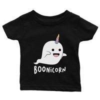 Boonicorn Cute Halloween Costume Funny Ghost Unicorn Baby Gift Tee Black