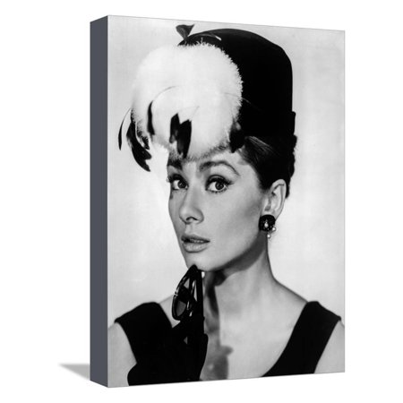 Audrey Hepburn Breakfast at Tiffany's Feather Hat Stretched Canvas Print Wall Art By Movie Star News - Breakfast At Tiffany's Hat