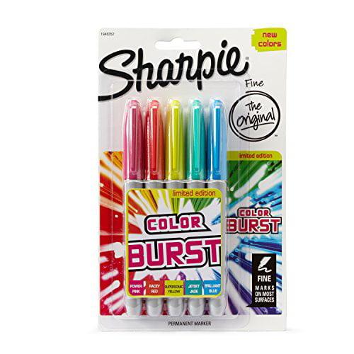 Sharpie® Color Burst Set of 5, Fine Tip