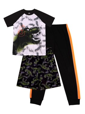 Wonder Nation Boy's 3 Piece Pajama Sleep Set (Big Boys & Little Boys)