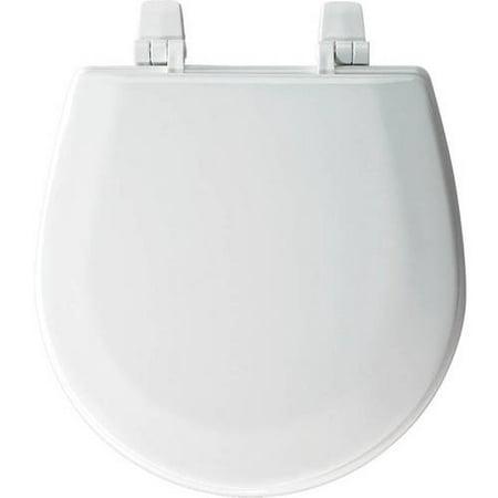 Bemis TC50TTA Marine Wood Round Toilet Seat, White