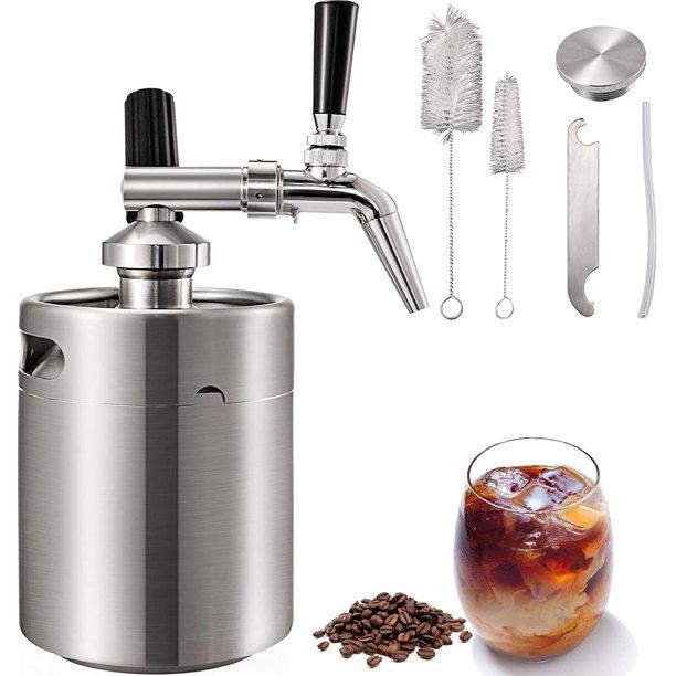 Vevor 4l Nitro Brew Coffee Maker 135oz With Brushes Home Keg Kit System Walmart Com Walmart Com