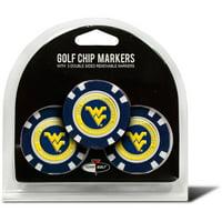 Team Golf NCAA West Virginia 3 Pack Golf Chip Ball Markers