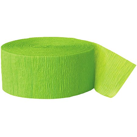 (2 Pack) Lime Green Crepe Paper Streamers, 81ft (Leopard Print Streamers)