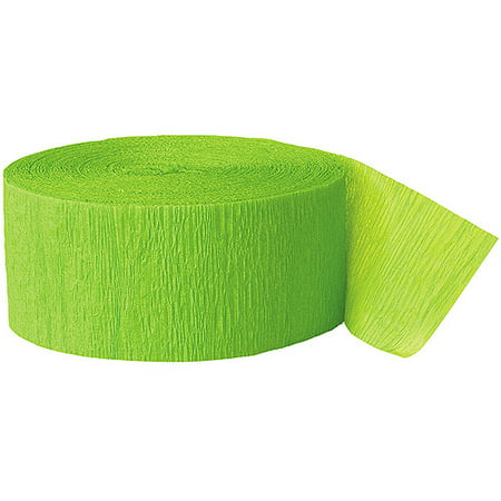 (2 Pack) Lime Green Crepe Paper Streamers, 81ft - Colourful Streamers