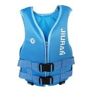 LEBONYARD Outdoor Sports Vest, Motorboat, Water Rescue, Swimming Buoyancy Life Jacket, Sky Blue