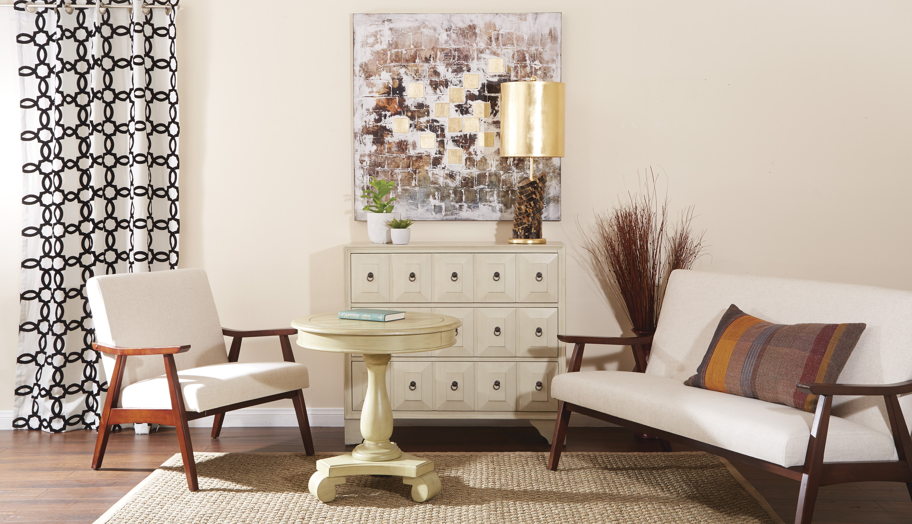 Avalon Round Accent table by Office Star Products