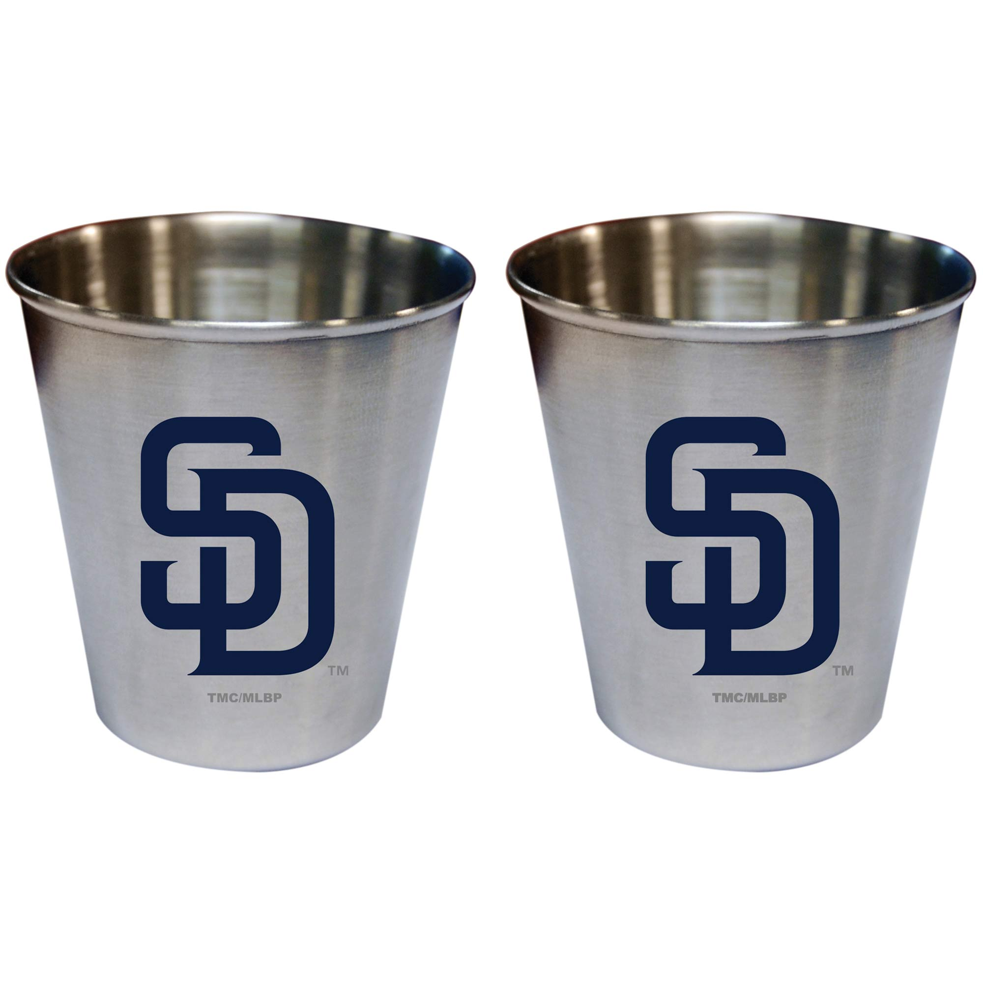 San Diego Padres 2oz. Stainless Steel Collector Cups Two-Pack Set - No Size