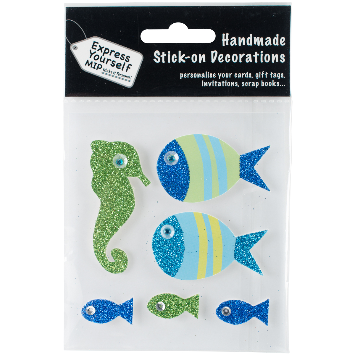 Express Yourself MIP 3D Stickers-Fish & Seahorse