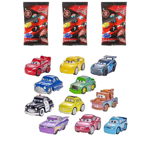 Set Of 3 Disney Pixar Cars 3 Mini Racers Blind Bags Real Die Cast Awesome Pocket Sized Version Featuring Characters From All Three By D8 Walmart Com Walmart Com