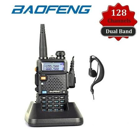 (Upgraded BAOFENG BF-F8+ Professoonal 128 Memory Channels Dual Band Handheld Transceiver FM Radio Receiver Walkie Talkie Black(Black))