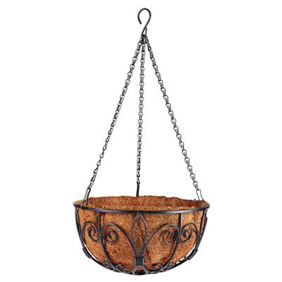 New Orleans Hanging Basket Black
