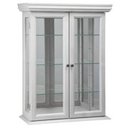 Design Toscano Country Tuscan Hardwood Wall Curio Cabinet: Lily White Finish