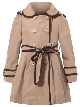Richie House Girls' Flared Top Coat with Trim RH0936