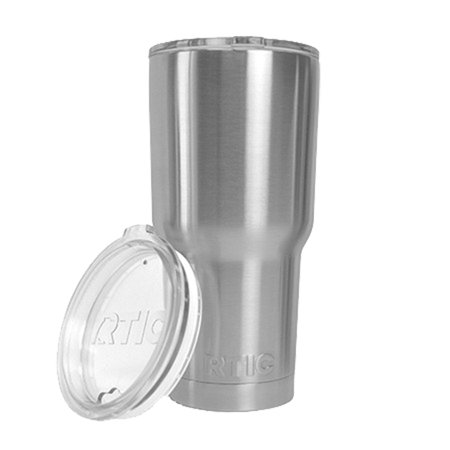 RTIC 20 oz. Thermal Tumbler Stainless Cup Coffee Mug Lid Cold or Hot (Stainless)