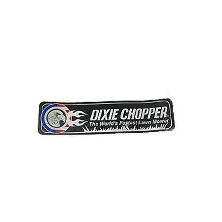 Dixie Chopper Fender Decal for XC3356, XC3366 & More Lawn Mowers / 800203