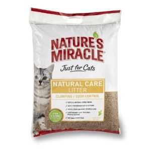Natures Miracle Just For Cats Corn Cob Cat Litter  18 Pound Multi Colored