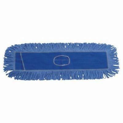 Looped End Dust Mop (Boardwalk Dust Mop Head, Cotton/Synthetic, 36 x 5, Looped-End, Blue)