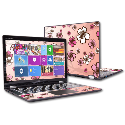 "MightySkins Protective Vinyl Skin Decal for Lenovo Yoga 700 14"" Screen Case wrap cover sticker skins Cherry Blossom"