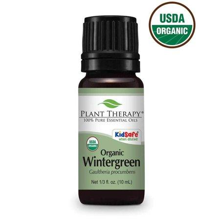 Plant Therapy Wintergreen Organic Essential Oil 10 mL (1/3 oz)100%