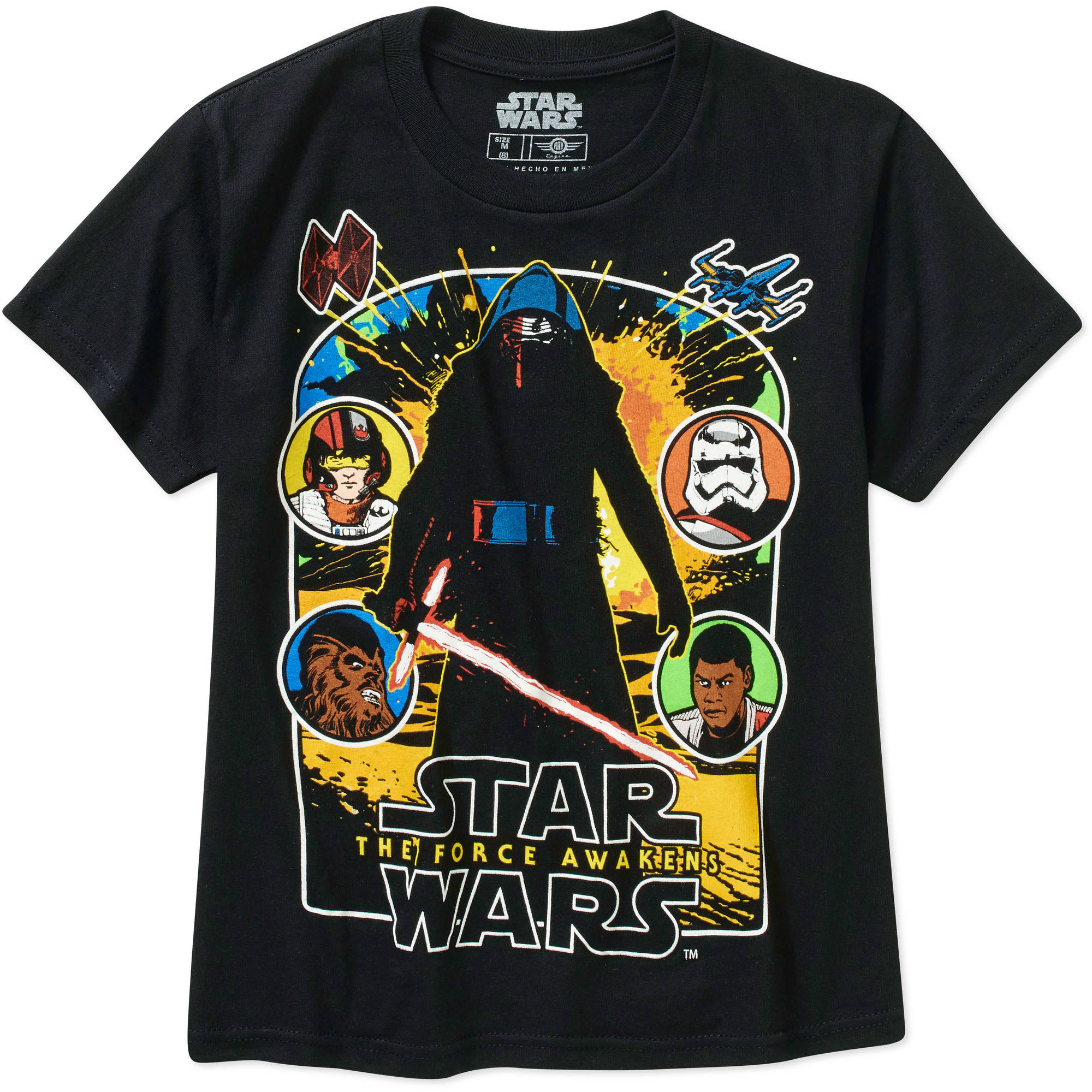 Star Wars The Force Awakens By The Light Big Men's Graphic Tee