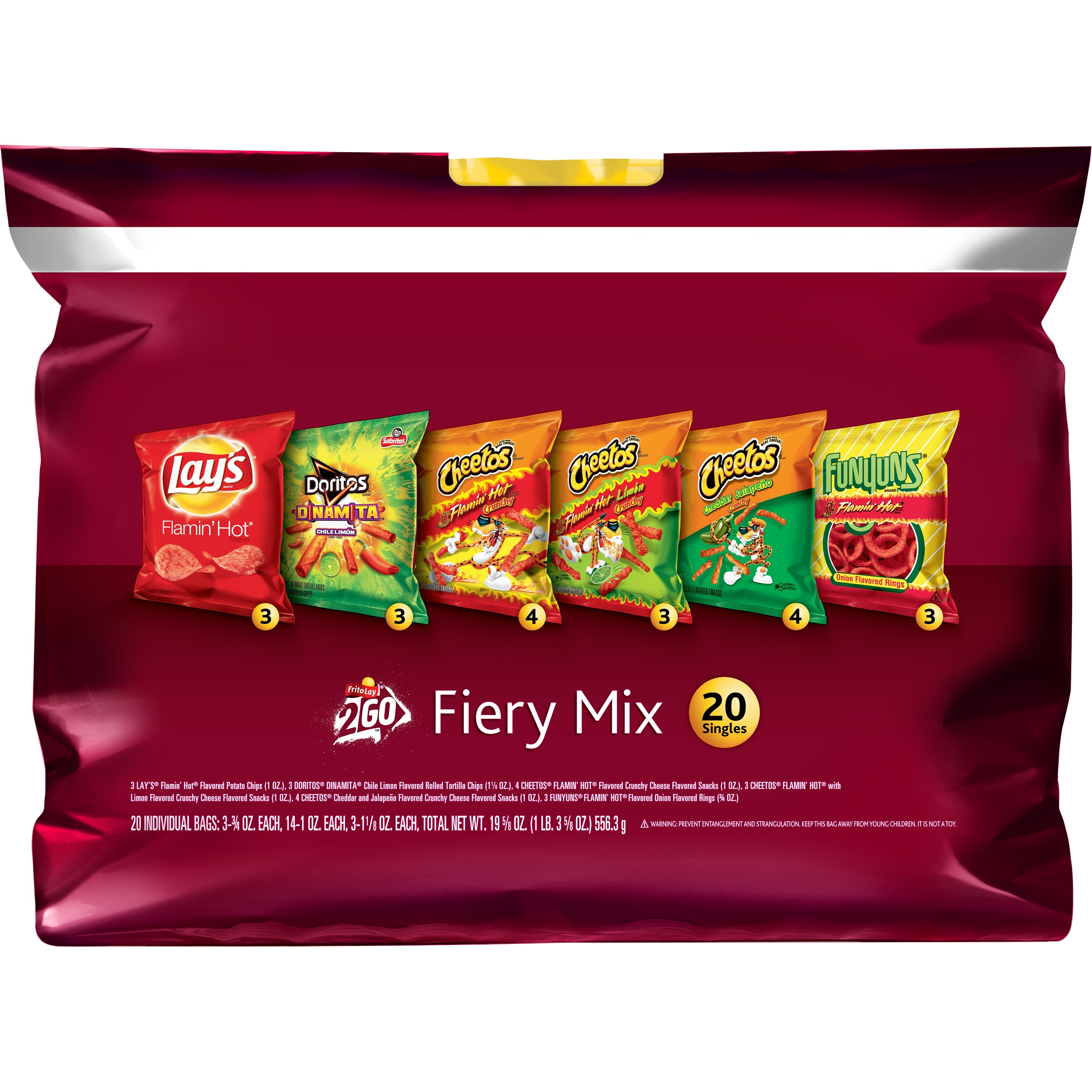 Frito-Lay Fiery Mix Variety Pack, 20 Count