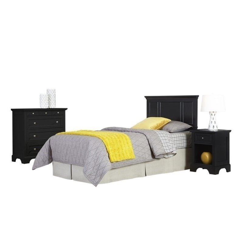 Hawthorne Collections 3 Piece Twin Panel Headboard Bedroom Set by Hawthorne Collections