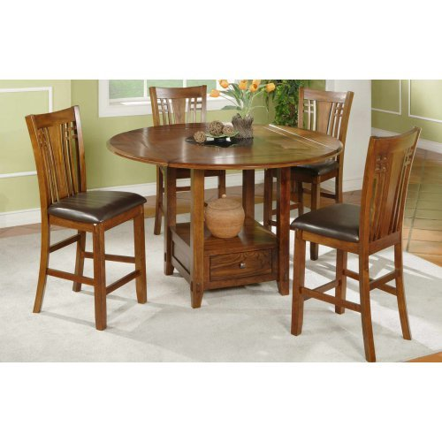 Winners Only Zahara Round Counter Height Dining Table With Granite Lazy  Susan   Walmart.com