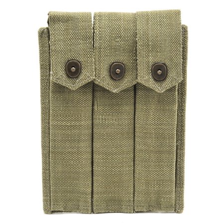 Us Ww2 Thompson 3 Cell Magazine Pouch Marked Jt 1943
