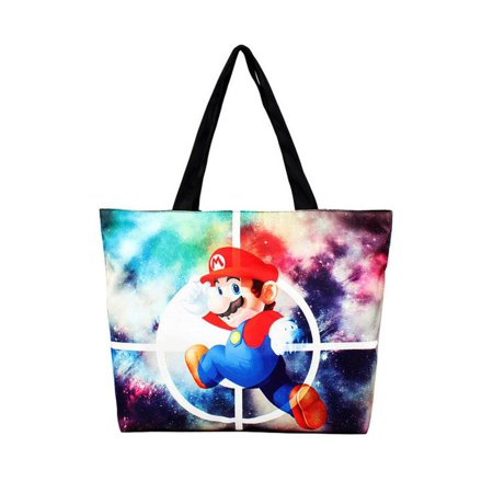 Cartoon Tote Bag (Super Mario Space Cosmic Cartoon Theme Canvas 18