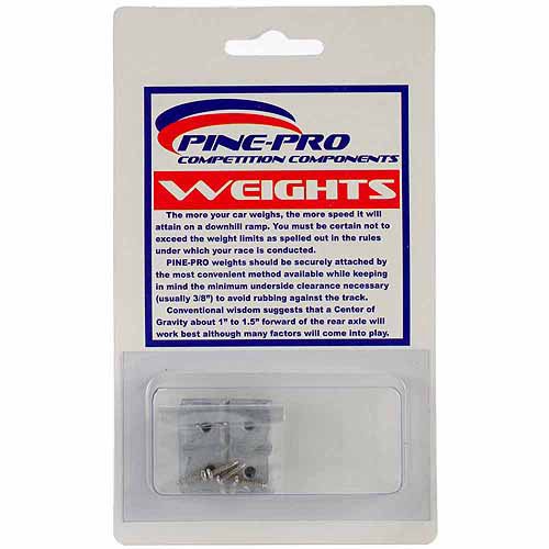 Pine Car Derby Weights, Square, 2 oz, 8pk