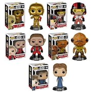 POP! Star Wars Episode 7: Princess Leia + C-3PO + Poe Dameron + Nien Nunb + Admiral Ackbar - Force A