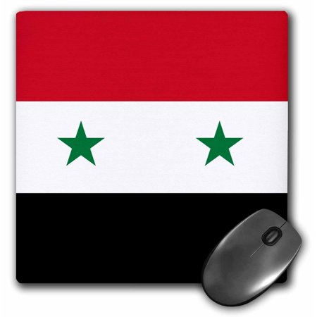 3drose Flag Of Syria Syrian Red White Black With Two Green Stars Middle East Arab Country Arabic World Mouse Pad 8 By 8 Inches