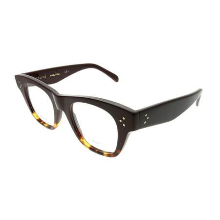 1e4ec52e2834 Celine Cathrine Small CL 41361 AEV Unisex Square Eyeglasses - Walmart.com