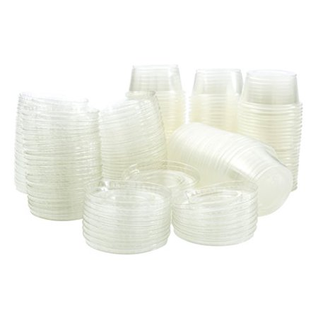 Green Direct 4 oz. Jello Shot Plastic Tumbler Cups with Lids Translucent/Clear Pack of 100](Halloween Jello Shots And Drinks)