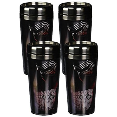 Disney The Force Awakens Star Wars Kylo Ren Group Poster Stainless Steel Travel Mug  16 Oz  Multicolor  4
