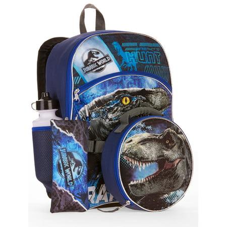 8ab1de7ce5 Jurassic World - Jurassic World 5-Piece Backpack Set With Lunch Bag -  Walmart.com