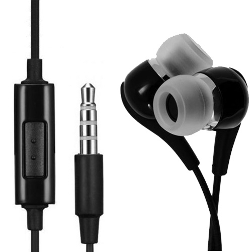 In-Ear Stereo Handsfree Wired 3.5mm OEM Headset for Huawei Mate 10 - LG V30 V20, Stylo 3, G7 ThinQ G6 G5, G Pad X8.3 F 8.0 8.3 7.0 - Earphones Dual Earbuds Headphones with Mic [Black]