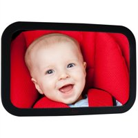 Lusso Gear Baby Mirror for Car - Largest and Most Stable Backseat Mirror with Premium Matte Finish - Crystal Clear View of Infant in Rear Facing Car Seat - Safe, Secure and Shatterproof