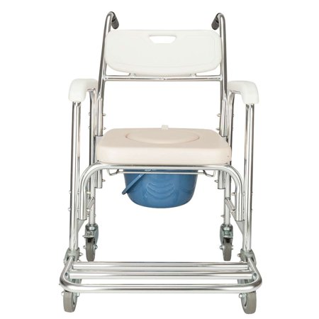 Mobile Commode Chair Shower Wheelchair Patient Old People Household Elederly Toilet