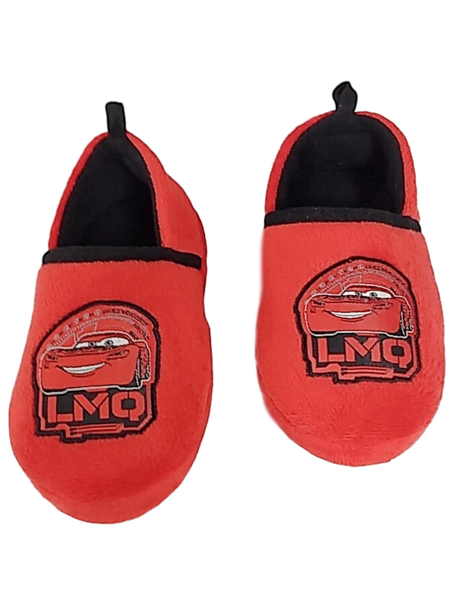 Toddler Boys Red Disney Cars Slippers