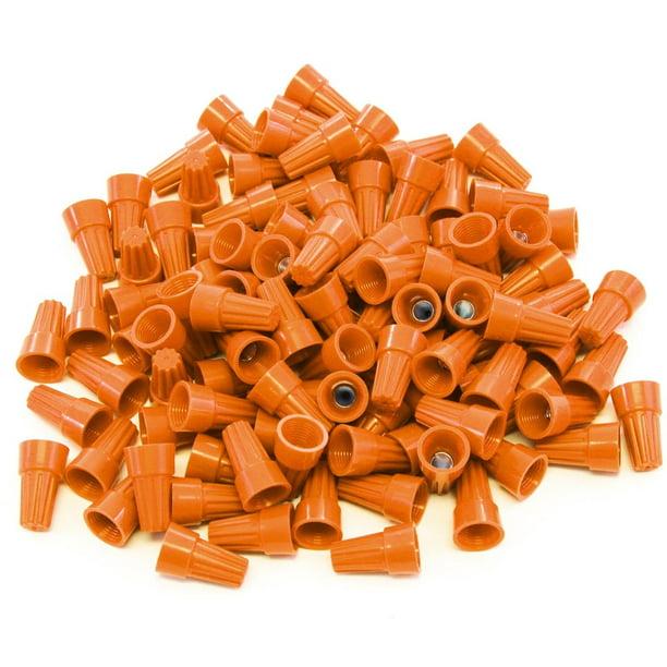 avec Bo/îte de Rangement en Plastique Plastique /Épingles Torsad/ées pour Tapisserie Dameublement 50 Pi/èces//Bo/îte Couvercles et Jupes de Lit D-Orange 100 Pi/èces Claires Twist Pins T/ête